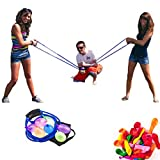 Ecisi Wasserballon-Schleuder, 500 Yard Toys 3-Personen-Schleuder 100 Wasserballons, Beast Heavy Duty...