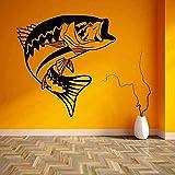 50X50 Cm Fischpaste Fisch Fisch Bass Aufkleber Angelhaken Angelgert Shop Poster Vinyl Wandtattoo...