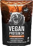 Vegan Protein 3K Shake - 1 Kg Chocolate - Pflanzliches Proteinpulver mit Reis-, Sonnenblumen- &...
