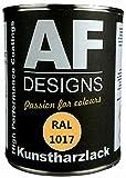 Alex Flittner Designs 1 Liter Kunstharz Lack Buntlack Kunstharzlack RAL1016 SCHWEFELGELB seidenmatt