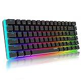 Mechanische Tastatur Gaming RGB Beleuchtung Blau Schalter 82 Taste, AJAZZ AK33 QWERTY Kabelgebundene...