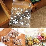 pittospwer 100 Stück Violoncello Schneeflocke von Cookie Candy Biscuit Geschenk Xmas Cat 10x10cm