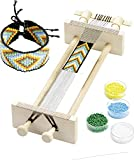 Knorr prandell 216080006 Webrahmen (zum Weben, von Perlenbänder, 34 x 11,5 x 6 cm, aus Holz, in...