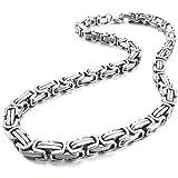 Halskette für Herren von Sungpunet, 8 mm breit, aus Edelstahl, byzantinische Gliederkette,...