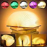 LED Buch Licht Faltbare Buchlampe LED Dekorative 6 Farbmodi Stimmungsbeleuchtung USB aufladbare in...