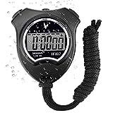 Digital Sport Stoppuhr Timer, Handheld Chronograph Digital Uhren Stoppuhr mit Wecker/Kalender fr...