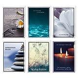 6er Set würdevolle Beileidskarten mit Umschlag I DIN A6 I Trauerkarten Kondolenzkarten modern I...