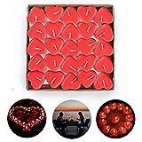SANBLOGAN Valentinstag Dekoration, Romantisch Deko Set 50 Rote Herz Kerzen, Romantische Kerzen...