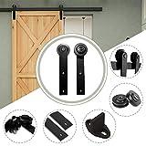 10.5FT/320 cm Schiebetürbeschlag Barn Door Hardware Schiebetür Kit für Einzelne...