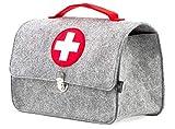stil-macher Arztkoffer aus Filz VEGAN   Doktortasche aus weichem Filzstoff   25x33x16 cm (HxBxT)  ...