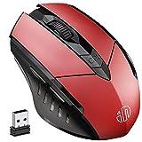 INPHIC Kabellose Maus, Wiederaufladbare Silent Funkmaus Optische Schnurlose Maus Kabellos, 2,4G...