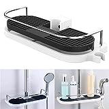 Fauge Badezimmer Regal Multifunktions Lagerregal Duschkopf Shampoo Halter Handtuchhalter...