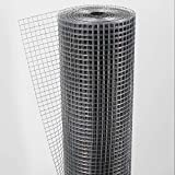 Aquagart® Volierendraht Hasendraht 15m x 1m, Drahtgitter Maschenweite 12mm, verzinkter...