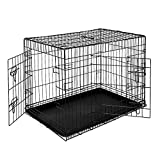 dibea Hundetransportkäfig Tiertransportbox Hundebox Größe (XL) 92x58x64 cm