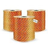 DQ-PP POLYPROPYLENSEIL | 6mm | 100m | ORANGE Polypropylen Seil | Tauwerk PP Flechtleine Textilseil...