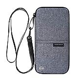 Reiseorganizer Tasche Ausweistasche mit RFID Blocker -Evershop Wasserdicht Reisedokumententasche...