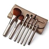 Jialun Make-up-Pinsel-Set, 7-teilig, natürliche Ziege, synthetische Kosmetik, Kabuki, Grundierung,...