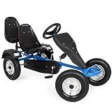 TecTake® Gokart Tretauto Go Kart Tretfahrzeug (Blau)