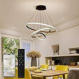 ERWEY LED Pendelleuchte Dimmbar Designleuchte Höhenverstellbar 3 Ringe Deckenleuchte mit...