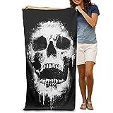 FAFANIQ Cool Skull Design Light Thin Quick Dry Travel Beach Blanket Pool Towel 31.5in51.2in XL