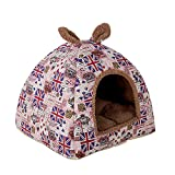 Gyratedream Haustierhöhle Bett Flanell, warme Katzenstreu Universal Pet House Vier Jahreszeiten...