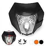 JFG RACING Schwarz Universal S2 12 V 35 Watt Motorrad Halogen Scheinwerfer Kopf Lampe Licht...