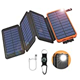GOODaaa Solar Powerbank 25000mAh, Solar Power Bank Outdoor mit 3 Ausgängen, Solar Ladegerät mit...