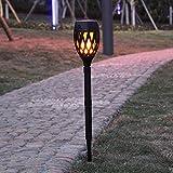 liangh Solarleuchte Fr Auen,Gartenfackel LED Solarlampe,Realistischer Flammeneffekt,IP65 Wasserdicht...