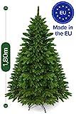 Weihnachtsbaum künstlich 180 cm – Edle Nordmanntanne mit Weihnachtsbaumständer – Künstlicher...
