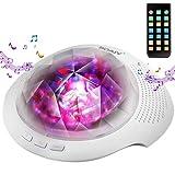 [neue Version] SOAIY Bluetooth LED Farbwechsel Nachtlicht Projektor Lampe mit Naturgeräusche zur...