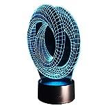 KangYD Magical Optical Illusion 3D-Stimmungslampe, LED-Nachtlicht, USB-Tischlampe, Raumbeleuchtung,...
