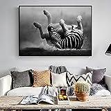GJQFJBS Leinwanddruck Tier Leinwand Malerei Wand Poster Abstrakte Bunte Tiger Wand A5 70x100 cm