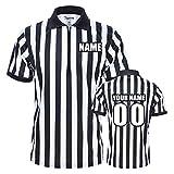 TopTie Herren Pro-Style Schiedsrichterhemd mit Reiverschluss, personalisierbar mit Namen, Zahlen und...