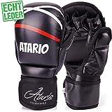 IRON MIKE Premium MMA Handschuhe aus Leder mit extra Dicker Polsterung - MMA Sparring Handschuhe mit...