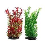 Vivifying Künstliche Aquarium-Pflanzen, 2 Stück 25cm Groß Plastik-Pflanze für Fisch-Tanks
