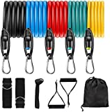 Resistance Bands Set, Widerstandsband Set mit 5 Fitnessbänder Gymnastikband Trainingsbänder mit...