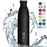 """720°DGREE Edelstahl Trinkflasche """"milkyBottle"""" - 1L - BPA-Frei, Auslaufsicher, Kohlensäure..."""
