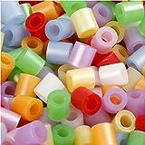 Bügelperlen, Größe medium mm, Größe 5x5 mm, Perlmuttfarben, 30000sort, Lochgröße 2,5 mm