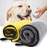 Dhohoo Hundehandtuch, Ultra saugfähige Hund trocknende Handtuch für Hund Bad, 100×55CM große...
