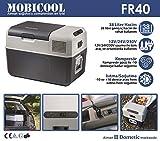 Mobicool FR40, elektrische Kompressor-Kühlbox mit 38 Liter Fassungsvermögen, 12/24 V und 230 V...