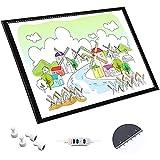 JIAWDYJ LED Leuchttisch Leuchtplatte Light Pad LED Zeichnung Pad Ultradünne Zeichenbrett Mit...