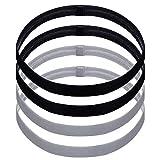 Nuosen 4 Stck unisex Anti-Rutsch Haarband/Kopfband, Sport Thin Stirnbnder fr Damen und Herren...