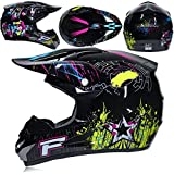 YYKAKUAN Erwachsener Off Road Helm Motocross Helm Mountainbike Helm Motorrad ATV MTB MX Rally...