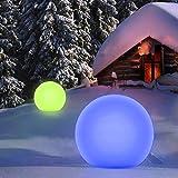 Homever Outdoor Solarlampen mit Fernbedienung, P67 Wasserdichter Solarlichtgarten mit 16 Farben und...