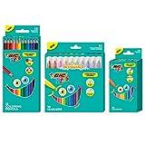 BIC Kids Malset mit Jumbo-Markern, Bleistiften und Buntstiften, 46 Stück, sortiert (BKCJX46E-AST)