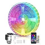LED Strips 10M, RGB Smart LED Streifen Farbwechsel LED Band, Musik Sync LED Lichterkette mit...