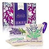 LADULA 10x Lavendelsäckchen mit Lavendelblüten – natürlicher Mottenschutz gegen Motten –...