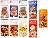 Lindt Les Grandes Schokoladentafel Set, 9 unterschiedliche, Les Grandes & Grand Plaisir...
