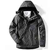 BEYONDTIME Herren Jacke Outdoor-Jacke Plus Samt Warme Jacke Abnehmbare Winddichtes Berg Anzug D-5XL