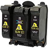Yellow Yeti Ersatz für HP 45 78 Druckerpatronen (2 Schwarz, 1 Farbe) kompatibel für HP Officejet...